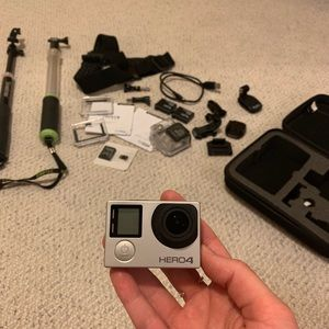 Used, GoPro Hero 4 Silver + Essential Equipment & Case for sale